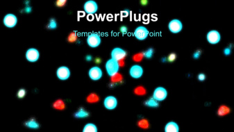 PowerPoint Template - Glowing lights background